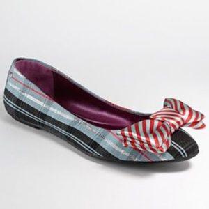 Coach Poppy Cambria flats in tartan pattern